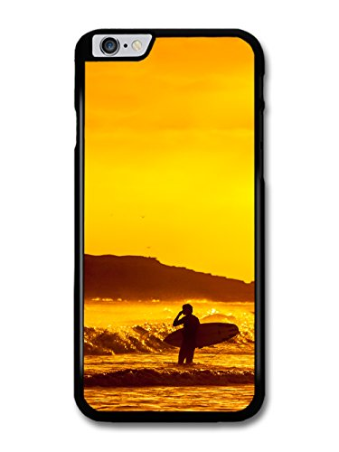 Surfboard Surfer on the Beach Coastal Sunset Orange case for iPhone 6 Plus 6S Plus