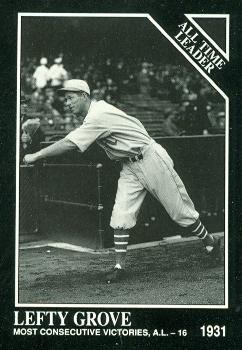 Amazoncom Lefty Grove Baseball Card Athletics Red Sox 1991