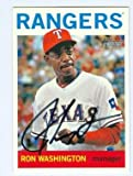 Ron Washington autographed baseball card (Texas Rangers) 2013 Topps Heritage No.76