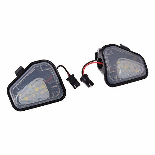 (GZCRDZ 1Pair LED Side Under Mirror Puddle Light Lamp For VW Volkswagen CC 12-14 EOS Passat B7 (White))