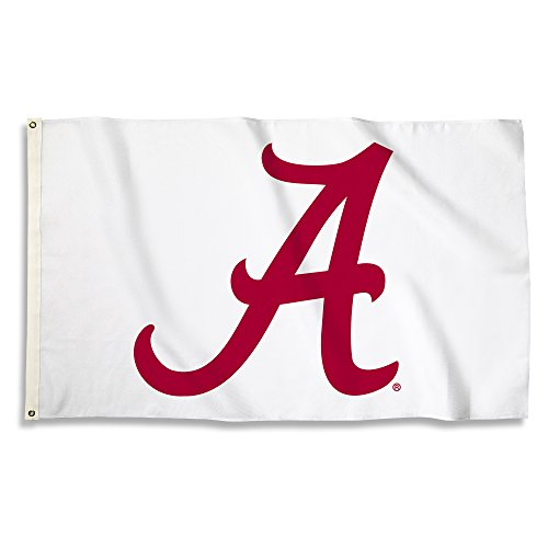 BSI NCAA Alabama Crimson Tide Flag with Grommets, 3' x 5', Cardinal