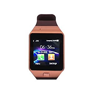 Alltrum Smart Watch with Bluetooth for Android Phones (Yellow)