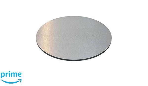 32 cm x 8 mm Gourmetrics pizza de acero inoxidable redondo: Amazon ...