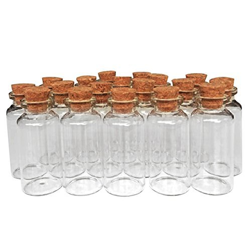 AxeSickle 36 Pcs 20ml cork jar glass bottles,DIY decoration mini glass bottles favors,mini vials cork,message glass bottle vial cork,small glass bottles jars corks, Wedding Decoration, Party - Favor Glasses