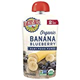 Earth's Best Organic Stage 2 Baby Food, Banana Blueberry, 4 Oz Pouch (Pack of 6)