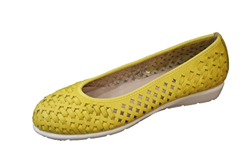 Grünland Women's Dada Closed Toe Ballet Flats Yellow (Giallo Gial) 0HvXDhA