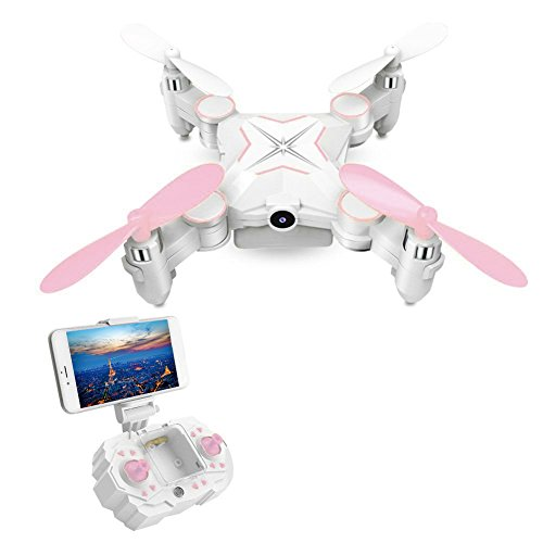 Mini RC Quadcopter LESHP RC Mini Drone RC Helicopter Toys Portable 6-AXIS RC Quadcopter FPV Foldable RC Mini Drone with WIFI 0.3MP Camera 2.4G 6-AXIS Transmitter Remote Controller