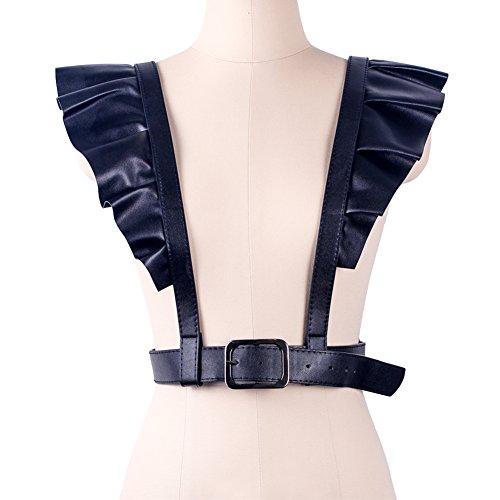 Wyenliz Womens Punk Straps Belts-Body Harness Belt Body Chain Harajuku Suspenders