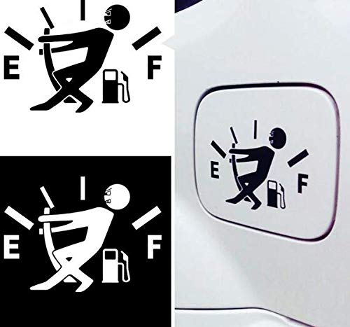 Funny out of gas car decal