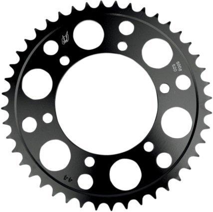 (Driven Racing Steel Rear Sprocket - 42T, Sprocket Position: Rear, Sprocket Size: 520, Sprocket Teeth: 42, Color: Black, Material: Steel)
