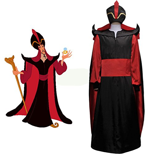 Aladdin Jafar Costume (Cuterole Men's Aladdin Jafar Villain Costume Adult Aladdin Cosplay Costume Custom)
