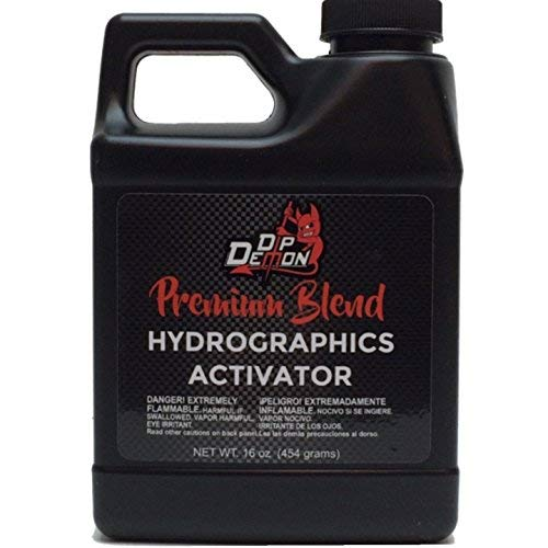 Hydrographic Film Activator Dip Demon Premium Blend Liquid Hydro Graphic Water Transfer Activator Hydro Dip Dipping 16oz (Best Hydro Dip Activator)