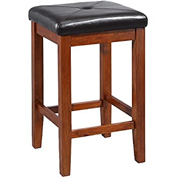 Crosley Furniture Upholstered Square Seat 24-inch Bar Stool - Classic Cherry (Set of  sc 1 st  Amazon.com & Amazon.com: Crosley Furniture Upholstered Square Seat 24-inch Bar ... islam-shia.org