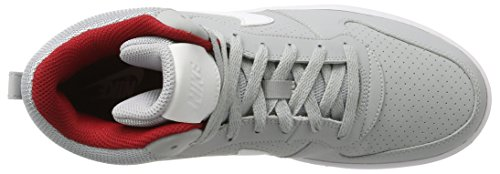 Nike Men's Court Borough Mid Hi-Top Trainers Grey (Wolf Grey/White-gym Red) wjXionFrq