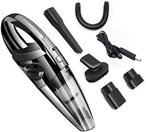 Portable Handheld Vacuum Cordless for car, Vacuum Cleaner Rechargeable Hand Vac,Lightweight Wet Dry Vacuum for Home Pet Hair Car Cleaning, 12V Lithium w/Quick Charge