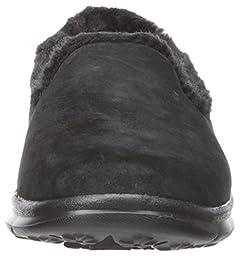 Skechers Performance Women\'s Go Step Velvety Walking Shoe, Black, 7 M US