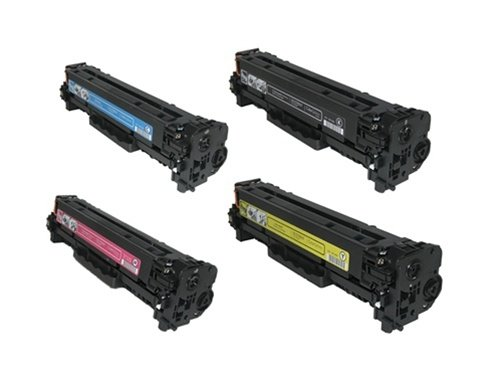 Hp Cc531a Cyan Toner (Calitoner Remanufactured Toner Cartridge Replacement for HP 304A (CP2025) (Black, Cyan, Magenta, Yellow, 4-Pack))