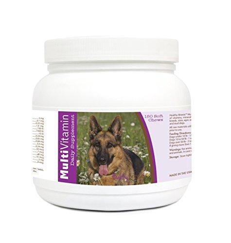 UPC 840235121695, Healthy Breeds 1128-grmn-003 180 Count German Shepherd Multi-Vitamin Soft Chews, One Size