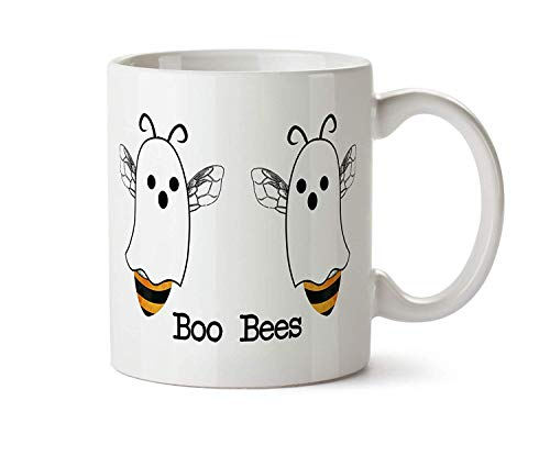 Boo Bees Halloween Funny Coffee Mug Boobies Pun Ghost -