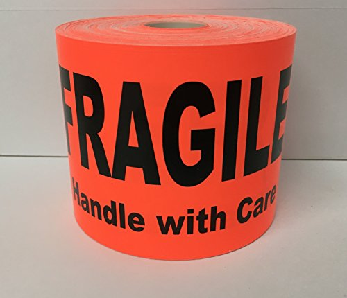 Longwood Florida (1 Roll LARGE 4x6 Bright Red FRAGILE Handle with Care Special Handling Shipping Pallet Stickers 250 labels per roll)