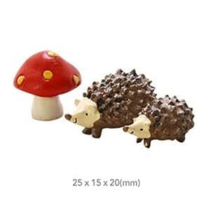 Creative Cartoon erizo Patio/jardín resina decoración figuras para macetas