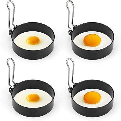 JJQHYC 4 pcs Anneau doeuf Moule /à oeufs antiadh/ésif cr/éer facilement une forme sp/éciale pour votre nourriture