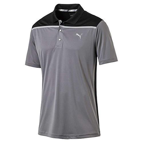 Colorblock Golf Polo - Puma Golf Men's 2019 Bonded Colorblock Polo, Quiet Shade, Large