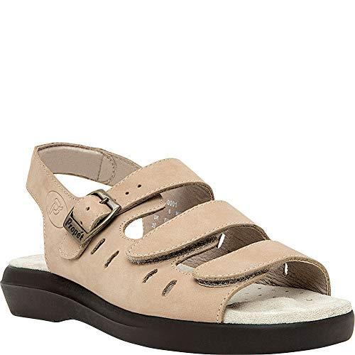 Athletic Sandals Propet (Propét USA Womens Breeze Sandal (8 - N (Narrow) - Dusty Taupe Nubuck))