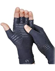COPPER HEAL Arthritis Compression Gloves - BEST Medical Copper Gloves GUARANTEED to work for Rheumatoid Arthritis, Carpal Tunnel, RSI, Osteoarthritis & Tendonitis - Open Finger (Medium)