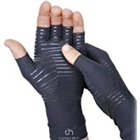 COPPER HEAL Arthritis Compression Gloves - BEST Medical Copper Gloves GUARANTEED to work for Rheumatoid Arthritis, Carpal Tunnel, RSI, Osteoarthritis & Tendonitis - Open Finger (Small)