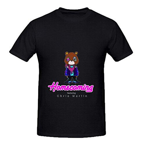 Kanye West Homecoming Electronica Men Crew Neck Slim Fit Shirts Black