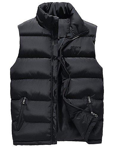 ASDASD SWDFSDF Herren Gefüttert Mantel,Standard Einfach Lässig Alltäglich Übergröße Solide-Baumwolle Acryl Polyester Polyester Ärmellos