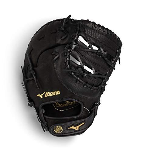 Mizuno Prospect Series Youth Baseball First Base Mitt 12.5', Size 12.5, Right Hand: Black (Rg90)