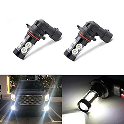 H10 9145 9045 9040 9140 9145 Fog Light Bulbs 50W 6000K 10 SMD LED High/Low Beam Super Bright White Xenon Car DRL Daytime Running Light,Set of 2: Automotive