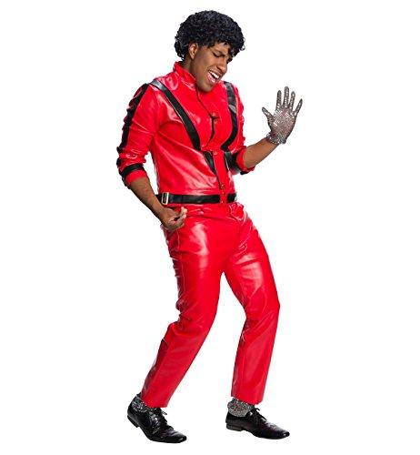 Charades Men's Michael Jackson Thriller Jacket, Red/Black, (Michael Jackson Thriller Jacket Costumes)