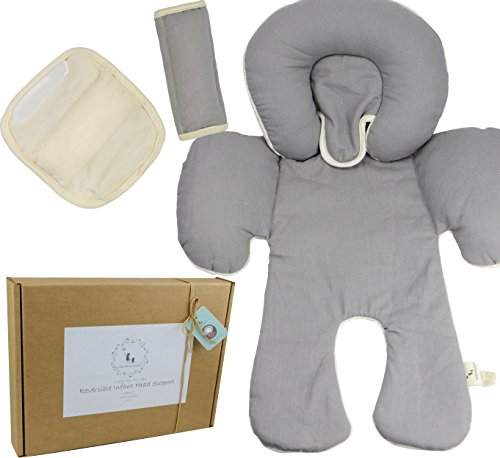 DorDor and GorGor Custom Newborn Baby 3 piece Gift Set (Car seat Pillow & Baby Seat Belt Cushion) (Gift Busket)