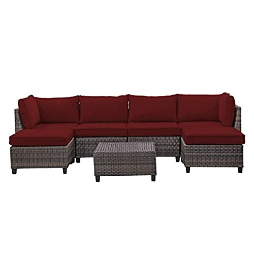 Genial ... Sets   Perfect Patio, Deck, Porch And Sunroom Furniture Set   Long  Lasting Comfort   Deep Seating Sofas For Lounging And Dining With Cushions  (Brick)