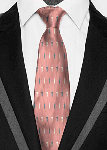Fancy tie Geometric,Simple Star Pattern Suitable for groom dance gift business office ()