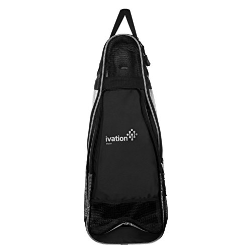(Ivation Snorkel & Dive Gear Backpack - Small, Lightweight Design for Everyday Diving, Snorkel, Surf & Swim Gear Black)