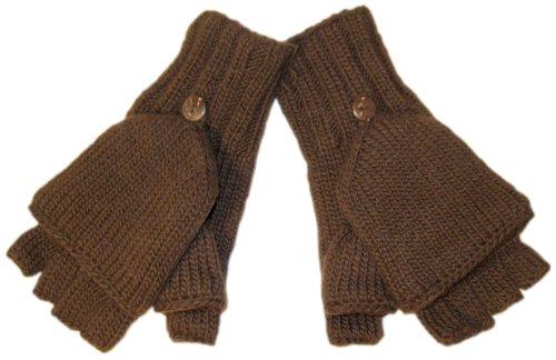 Nirvanna Designs MT27 Fingerless Mitten/Gloves, Brown