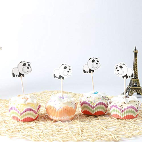 Birthday Party iMagitek 48 Pcs Panda Bear Cupcake Toppers for Baby Shower