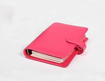 Agenda personal de piel sintética de Yakri, color rosa ...
