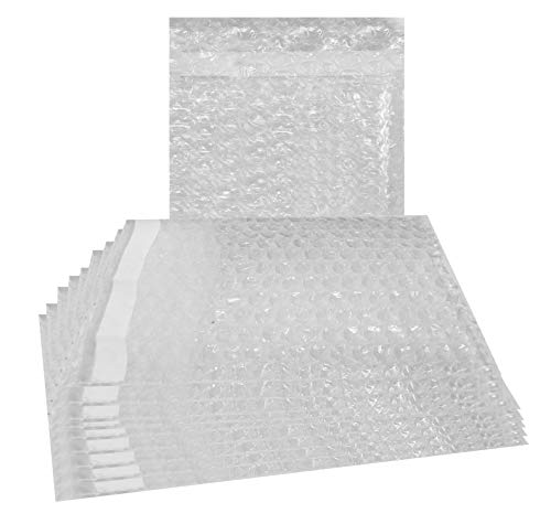 25 Pack of Bubble Out Bags 7 x 8.5. Self-Sealing Packing Moving Bags Pouches 7 x 8 1/2 Cushion Lightweight Bags for mailing and Packaging. Wholesale Price.
