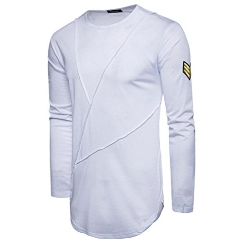 Amazon.com: kaifongfu Mens Long Sleeve Solid Color Top Casual Panel T-Shirt Blouse Sweatshirts: Clothing