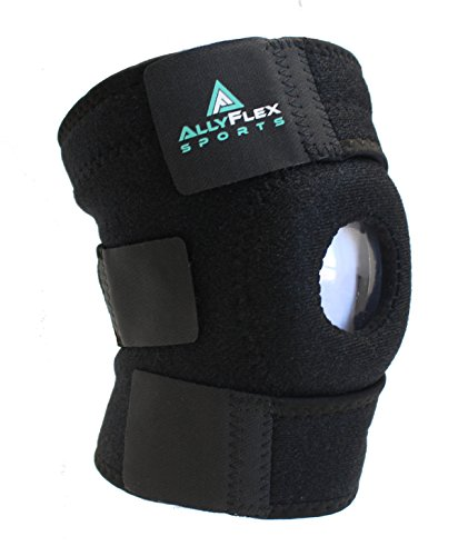 AllyFlex Open Patella Stabilizer Knee Brace - Strong Breathable Neoprene Knee Support for Stabilizing Patella Dislocation Tracking Arthritis Meniscus Tear ACL MCL ()