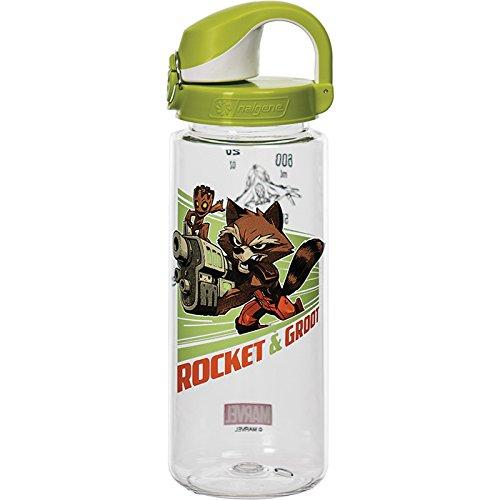 Nalgene OTF Rocket & Groot Bottle, Clear, 24 oz - Rocket Water Bottle