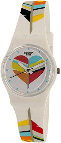 Swatch Women's Es War Zeimal LW151 White Rubber Swiss Quartz Fashion Watch