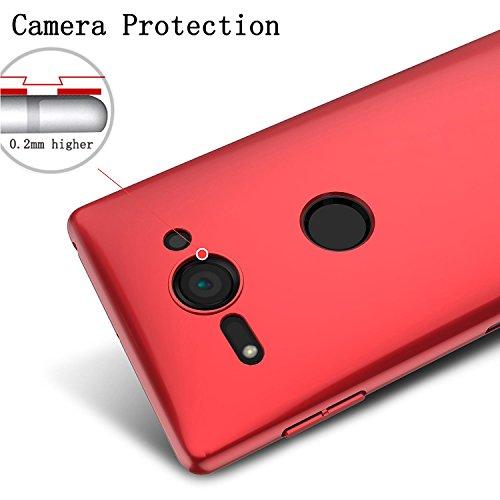 Antichoc Pour Shell Pc Sony Cover Protection Coque Back Bumper Xperia Noir Housse xperia Compact Étui Rouge scratch Récurer Case Slim Rigide Adamark Xz2 Ultra Compact Anti P1wffR