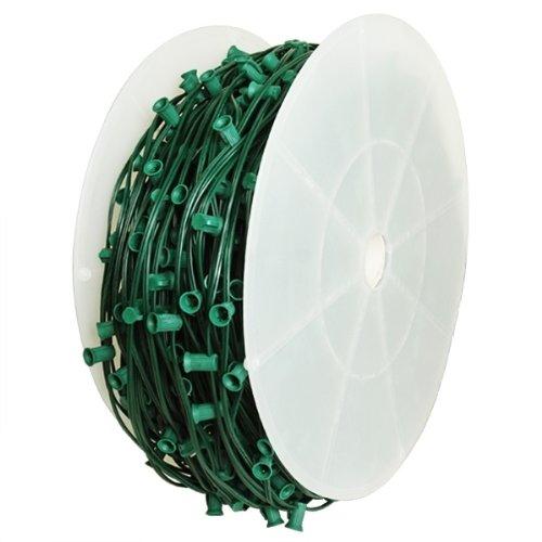 C9 Stringer - 1000 ft. - 1000 Intermediate Sockets - Green Wire - Socket Spacing 12 in. - SPT-1