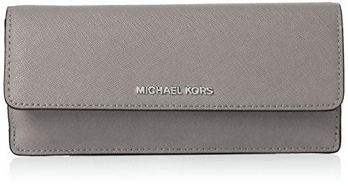 MICHAEL Michael Kors Jet Set Travel Slim Saffiano Leather Wallet, Color Pearl Grey by Michael Kors